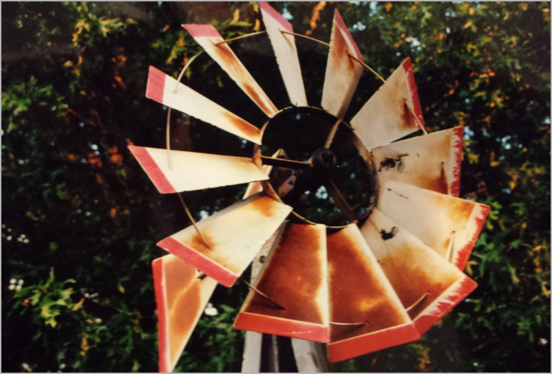 Organic Products from JJJ & M Natural Farms - windmill blades picture at jjm organic farms in missouri